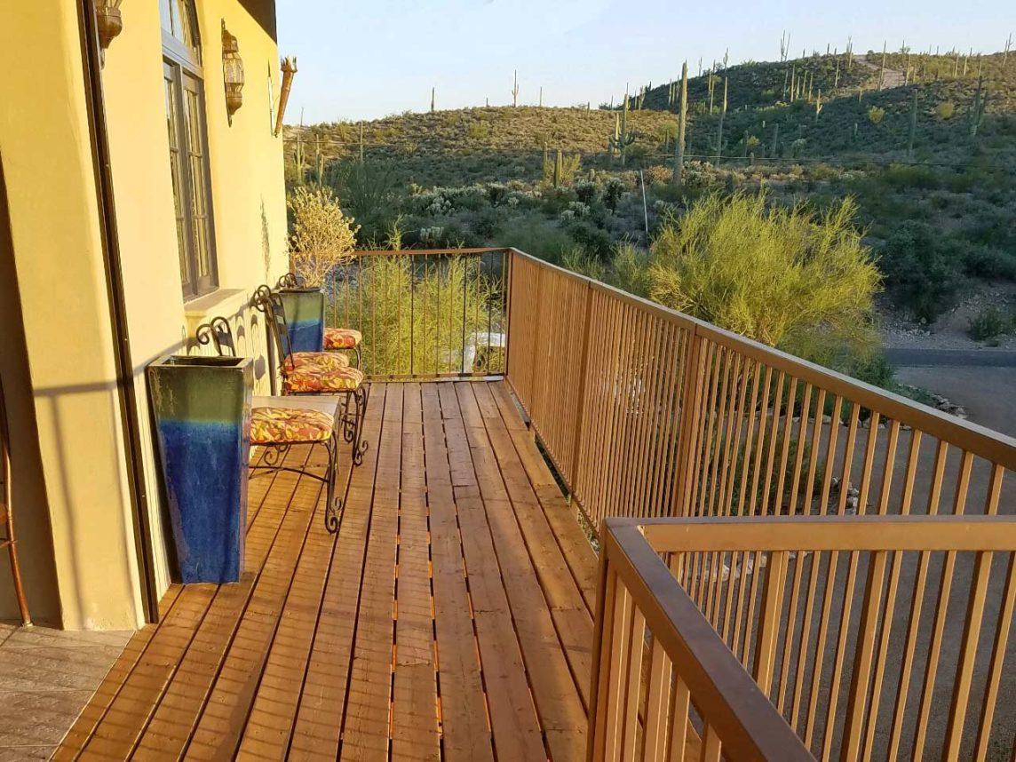 Wood Balcony Show Case